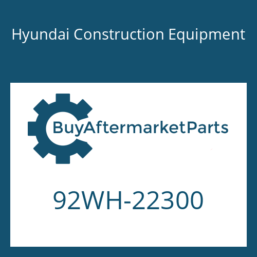Hyundai Construction Equipment 92WH-22300 - DECAL-NOISE LWA