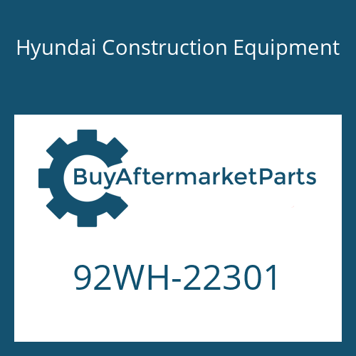 Hyundai Construction Equipment 92WH-22301 - DECAL-NOISE LWA