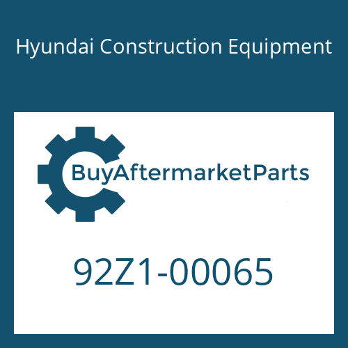 Hyundai Construction Equipment 92Z1-00065 - DECAL KIT-A