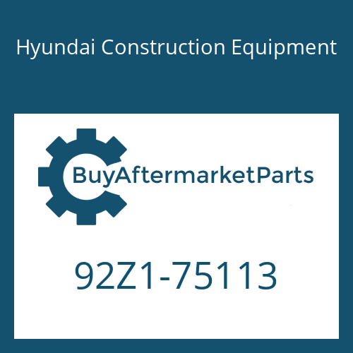Hyundai Construction Equipment 92Z1-75113 - DECAL-MODEL NAME LH