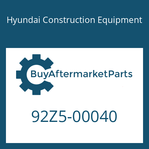Hyundai Construction Equipment 92Z5-00040 - DECAL-SIDE GRAPHIC RH