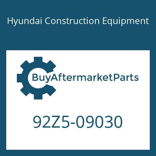Hyundai Construction Equipment 92Z5-09030 - DECAL-GRAPHIC RH