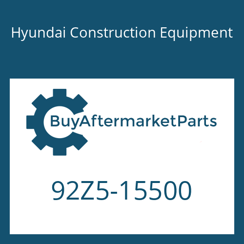 Hyundai Construction Equipment 92Z5-15500 - DECAL-MODEL NAME