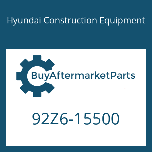 Hyundai Construction Equipment 92Z6-15500 - DECAL-MODEL NAME