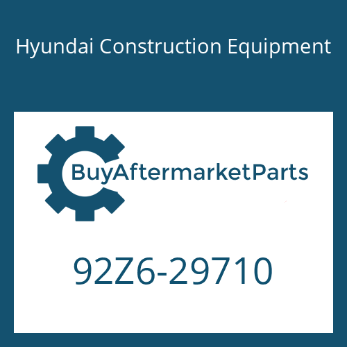Hyundai Construction Equipment 92Z6-29710 - DECAL-SERVICE INSTRUCTION