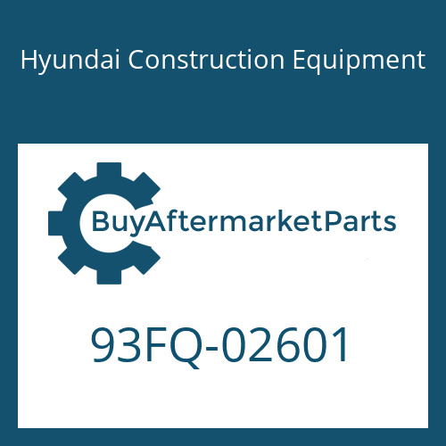 Hyundai Construction Equipment 93FQ-02601 - DECAL-MODEL NAME