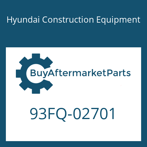 Hyundai Construction Equipment 93FQ-02701 - DECAL-MODEL NAME