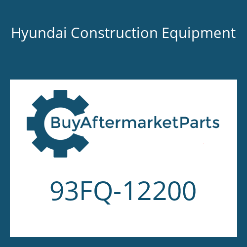 Hyundai Construction Equipment 93FQ-12200 - DECAL-MODEL NAME