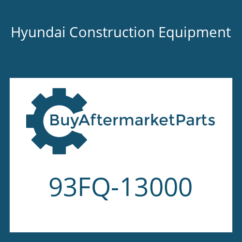 Hyundai Construction Equipment 93FQ-13000 - DECAL-EQUIP SPEC