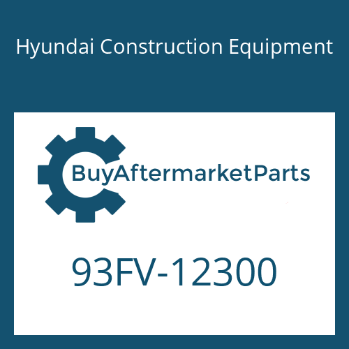Hyundai Construction Equipment 93FV-12300 - DECAL-MODEL NAME