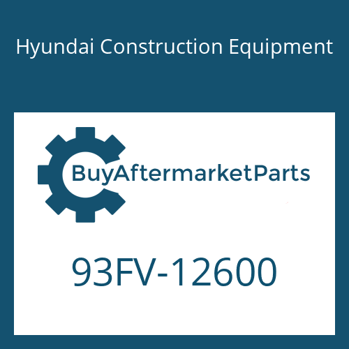 Hyundai Construction Equipment 93FV-12600 - DECAL-MODEL NAME