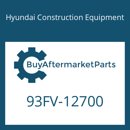 Hyundai Construction Equipment 93FV-12700 - DECAL-MODEL NAME