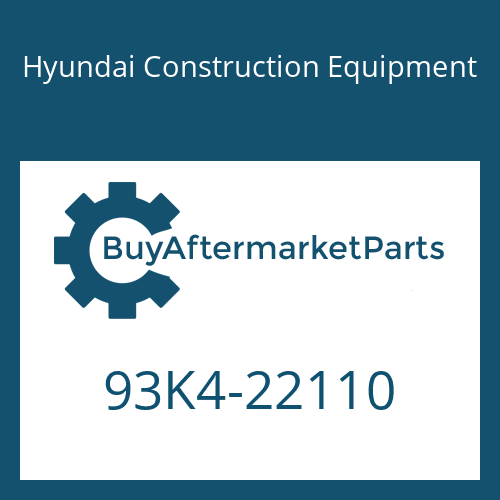 Hyundai Construction Equipment 93K4-22110 - DECAL-NOISE