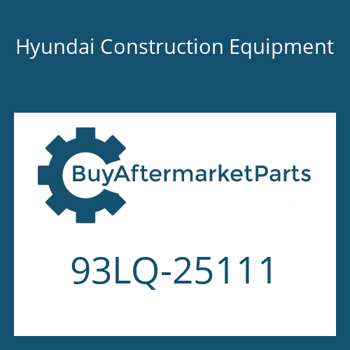 Hyundai Construction Equipment 93LQ-25111 - DECAL-MODEL NAME