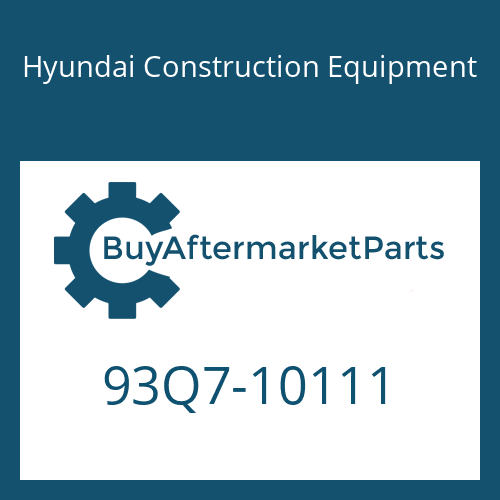 Hyundai Construction Equipment 93Q7-10111 - DECAL KIT-B