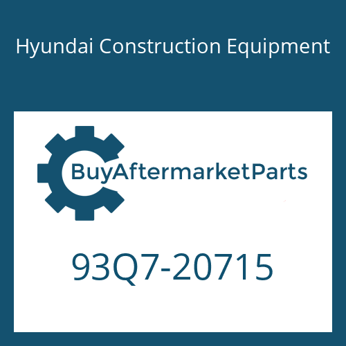 Hyundai Construction Equipment 93Q7-20715 - DECAL-SERVICE INSTRUCTION