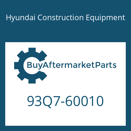 Hyundai Construction Equipment 93Q7-60010 - DECAL-MODEL NAME