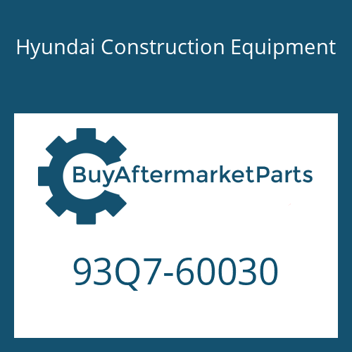 Hyundai Construction Equipment 93Q7-60030 - DECAL-MODEL NAME