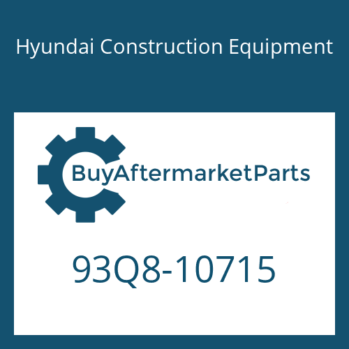 Hyundai Construction Equipment 93Q8-10715 - DECAL-SERVICE INSTRUCTION