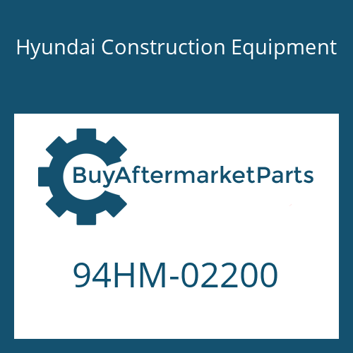 Hyundai Construction Equipment 94HM-02200 - DECAL-MODEL NAME
