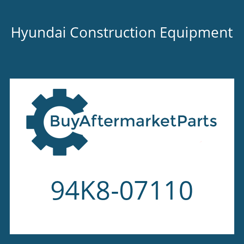 Hyundai Construction Equipment 94K8-07110 - DECAL-CONSOLE LOGO