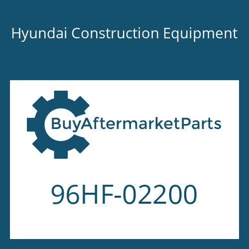 Hyundai Construction Equipment 96HF-02200 - DECAL-MODEL NAME