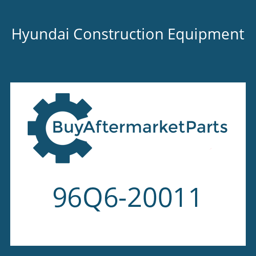 Hyundai Construction Equipment 96Q6-20011 - DECAL-MODEL NAME