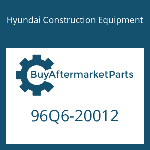 Hyundai Construction Equipment 96Q6-20012 - DECAL-MODEL NAME