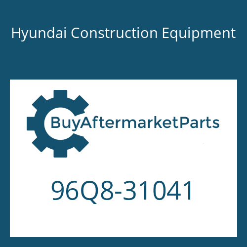 Hyundai Construction Equipment 96Q8-31041 - MANUAL-OPERATOR