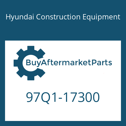 Hyundai Construction Equipment 97Q1-17300 - DECAL-CONTROL SWIVEL