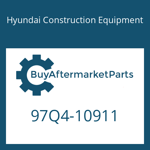 Hyundai Construction Equipment 97Q4-10911 - DECAL-SERVICE INSTRUCTION