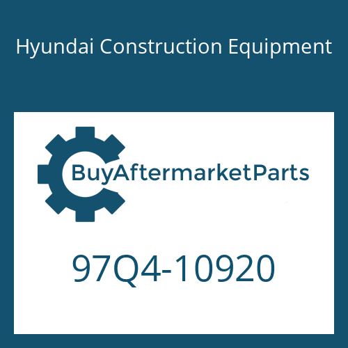Hyundai Construction Equipment 97Q4-10920 - DECAL-SERVICE INSTRUCTION
