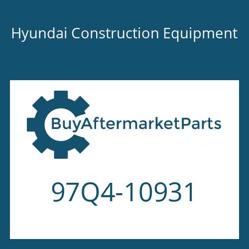 Hyundai Construction Equipment 97Q4-10931 - DECAL-SERVICE INSTRUCTION