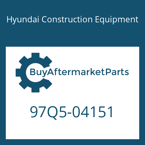 Hyundai Construction Equipment 97Q5-04151 - DECAL-LIFT CHART