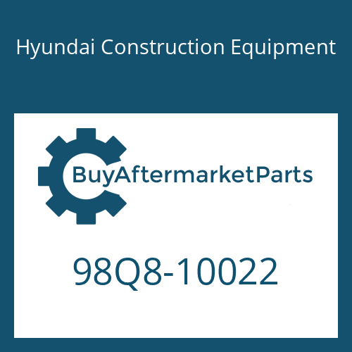 Hyundai Construction Equipment 98Q8-10022 - DECAL-MODEL NAME