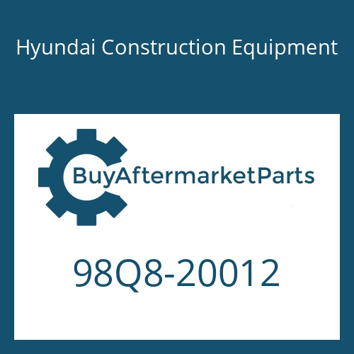 Hyundai Construction Equipment 98Q8-20012 - DECAL-MODEL NAME
