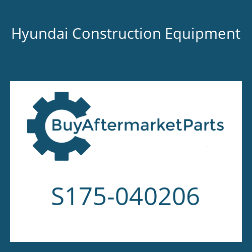 Hyundai Construction Equipment S175-040206 - BOLT-SOCKET