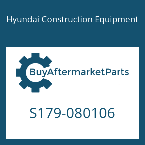 Hyundai Construction Equipment S179-080106 - SCREW-SOCKET RD HD