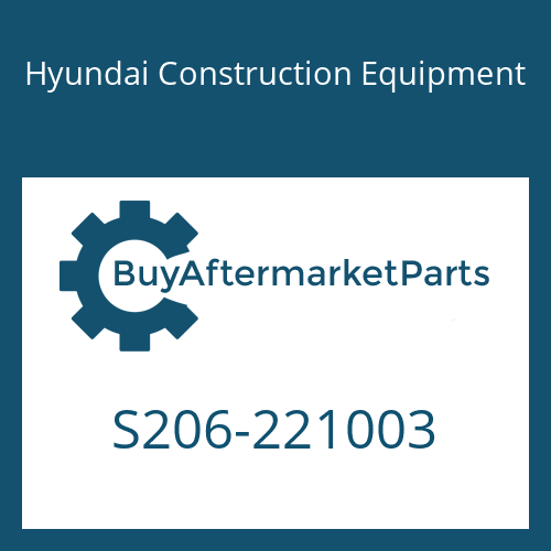 Hyundai Construction Equipment S206-221003 - NUT-HEX