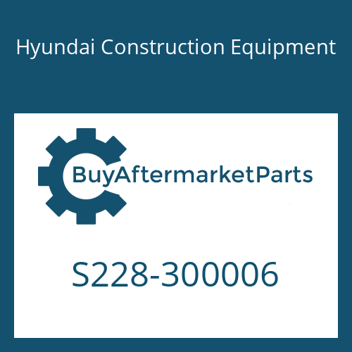 Hyundai Construction Equipment S228-300006 - NUT-HEX