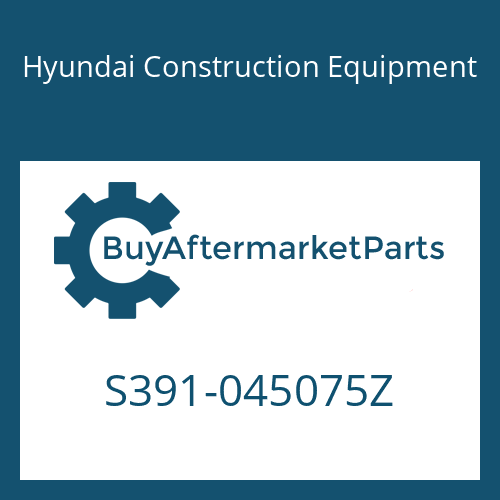 Hyundai Construction Equipment S391-045075Z - SHIM-ROUND 1.0