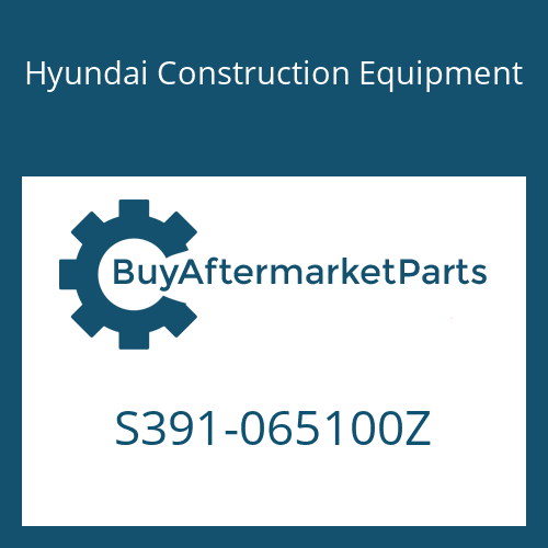 Hyundai Construction Equipment S391-065100Z - SHIM-ROUND 1.0