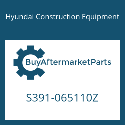 Hyundai Construction Equipment S391-065110Z - SHIM-ROUND 1.0