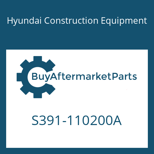 Hyundai Construction Equipment S391-110200A - SHIM-ROUND 1.0