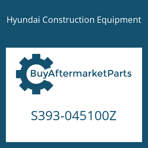 Hyundai Construction Equipment S393-045100Z - SHIM-ROUND 3.0