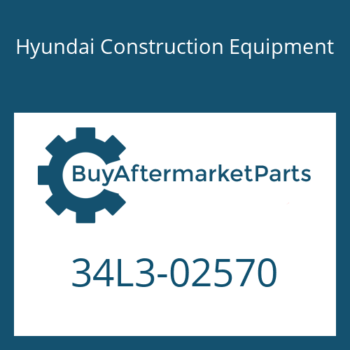 Hyundai Construction Equipment 34L3-02570 - COVER