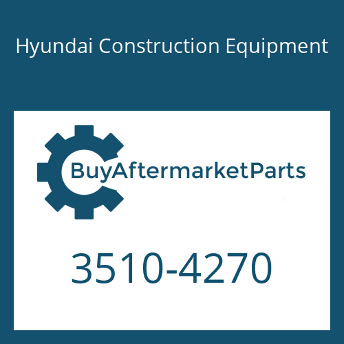 Hyundai Construction Equipment 3510-4270 - PLUNGER ASSY