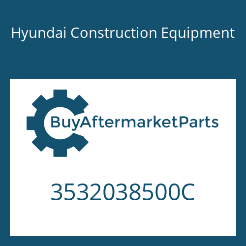 Hyundai Construction Equipment 3532038500C - SHAFT-WHEEL