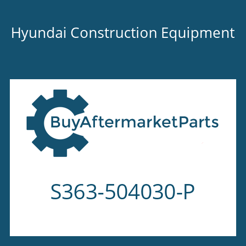 Hyundai Construction Equipment S363-504030-P - PLATE-TAP 2