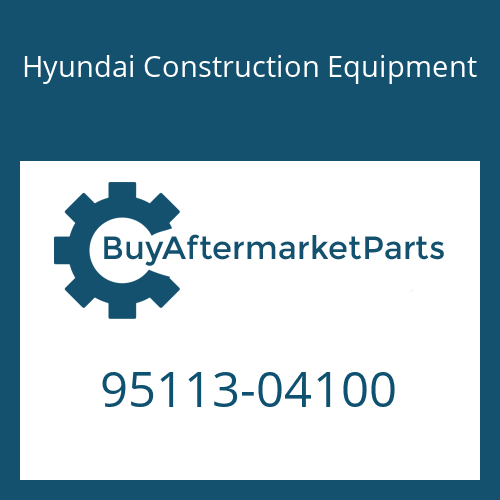 Hyundai Construction Equipment 95113-04100 - O-RING